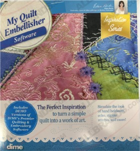 DIME Inspirations MQE My Quilt Embellisher Software (Floriani My Decorative Quilter+) (comparable to former My Decorative Quilter+)