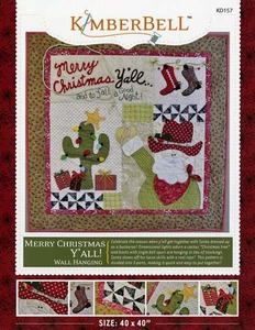 52714: KimberBell Designs KD157 Merry Christmas Y'all Sewing Pattern