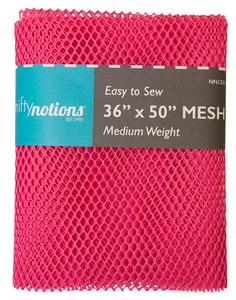 "52635: Nifty Notions NN1231 Mesh Fabric Medium Weight, Bright Pink 36"" x 50"""