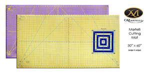 Martelli MCM30x60in Extra Large Heavy Duty Cutting Mat Only, Double Sided, Self Healing, Grid, Concentric Squares, 45 & 60° Angles for Rotary Cutters