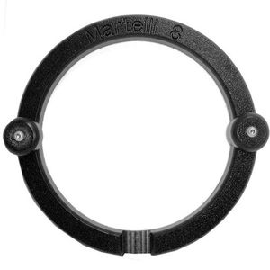 "43838: Martelli GFM-08 8"" Round Free Motion Quilting Hoop, 2 Knobs, Rubber Grippers"