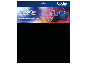 Brother CARSSH1 Rhinestone 3 Each Template and Transfer Sheets 12x12in, Set for Scan N Cut Starter Kit CARSKIT1