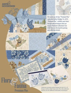 54952: Anita Goodesign PRPL01 Flora & Fauna Premium Plus Collection Embroidery CD