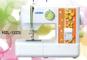 Juki HZL-12ZS Mechanical Freearm Zigzag Sewing Machine, Blindhem, Buttonhole, Needle Threader, Juki HZL-12ZS Mechanical Freearm Sewing Machine, Straight Stitch, Zigzag, Blindhem, Elastic, Buttonhole, Auto Thread, DVD, All Metal Bobbin Case 10lbs