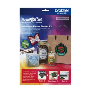 Brother CAPSKIT1 Printable Sticker Starter Kit for for Scan N Cut Canvas