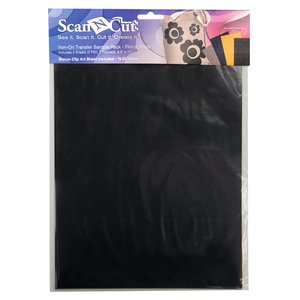"Brother ScanNCut CATSP02 Iron On Cutting Materials 8.5x11"" Vinyl Film & Flock for ScanNCut CM650, CM500, CM350, CM250, CM100"