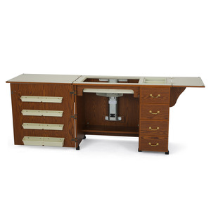 55931: Arrow 350 Norma Jean Sewing Machine Cabinet Oak 81x20""