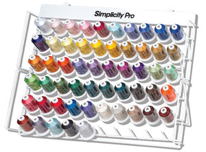 54477: Simplicity Pro by Brother ETKS110 Cones 1100Yd Embroidery Thread Kit 40wt Poly, 42 Disney, Metal Racks