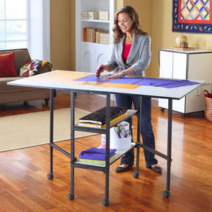Sullivan 38431 Home Hobby Craft Cutting Table 36x60 Inches, Adjustable Height Stand from 29-38 Inches, 66Lbs, Ideal for fabric and pattern layout.