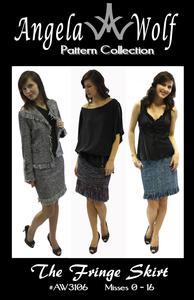 Angela Wolf AW3106M Fringe Skirt Sewing Pattern