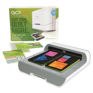 """AccuQuilt 55500 GO Big Electric Fabric Die, Strip Cutter Starter Set, Cut 6 Layers to 10""""Wx24""""L Use All Go Dies, 23Lb, 6Mo 0%"""
