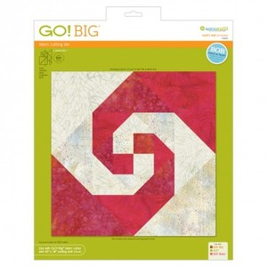 "Accuquilt GO! 55460 Big Snail's Trail 12"" Die Finished for 55500 Go Big Cutter"