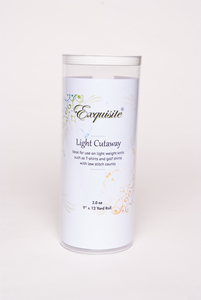 """Exquisite H420912K Light Cutaway Embroidery Stabilizer Backing 2oz White, 9""""x12Yds"""
