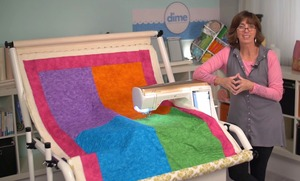 56561: DIME Shorte 001 Compact Frame Holds Bulky Quilts for Continuous Embroidery in the Hoop