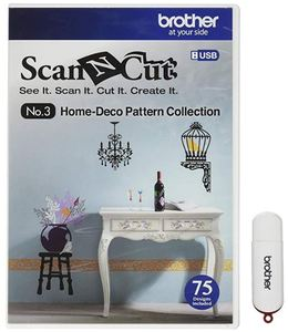 55428: Brother ScanNCut CAUSB3 No.3 Home-Deco 75 Pattern Collection USB Stick