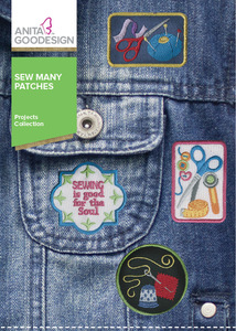 Anita Goodesign PROJ77 Sew Many Patches Projects Emb Design Collection CD