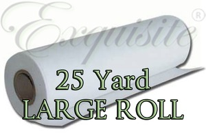 Exquisite EXLR17 Heavy Cutaway 3.0 oz Embroidery Stabilizer Backing 20in by 25 Yards, Large Roll, Shrink Wrapped