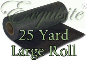 "Exquisite EXLR7 Black Medium Tearaway 1.8oz Embroidery Stabilizer 20"" Inch x 25 Yard Large Roll Shrink Wrapped"