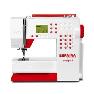 56939: Bernina 215 Demo Simply Red Computer Sewing Machine LED, Buttonhole