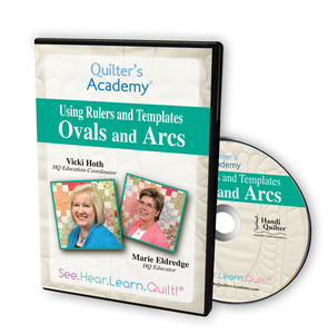 Handi Quilter HL00429 Using Ovals and Arc Templates with Rulers DVD