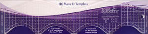 """Handi Quilter 3"""" & 6"""" Wave Ruler Template D for Free Motion Quilting and Ruler Foot"""