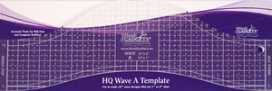 "57463: Handi Quilter HG00608 1-2"" Deep Wave Ruler A 12"" Long, 1/4"" Thick, for Hopping Foot"