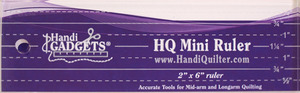 "57450: Handi Quilter HG00359 1/4"" Thick Mini Ruler Template 2x6"" for Ruler Foot"