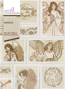 Anita Goodesign 185MAGHD Angels Mini Mix & Match Quilting Multiformat Embroidery Design CD