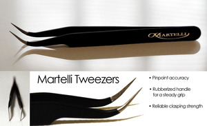 Martelli 7574A Pin Point Tweezers, Ultra Sharp, Use with Curve Master