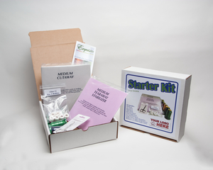 """DIME, Exquisite, H2201K, Embroidery Starter Kit, 40 Stabilizers 8x8"""", Scissors, 6 Threads, 6 Bobbins"""