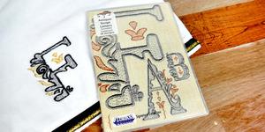 Floriani S-9744 Antique Script Letters - Signature Series Embroidery Design Collection