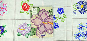 """Floriani S-9745 Floral Shadows - Signature Series Embroidery Design Collection for 5"""" x 7"""" Hoop"""
