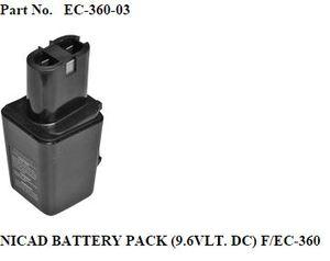 Superior EC-360-03 Nickel Cadmium Battery 9.6Volt DC, Kingbow MB-60 Cutters