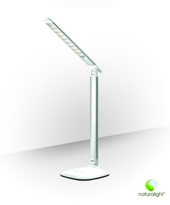 "Daylight UN1327 14"" Portable Smart Lamp D20 Metallic Silver"