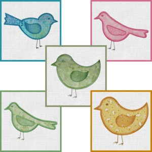59528: AccuQuilt MBME55324 GO! 5 Birds Embroidery Designs CD, Use with Birds die 55324
