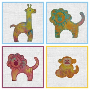 59538: AccuQuilt MBME55369 GO! Zoo Animals Embroidery Designs CD
