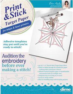 "59540: Dime PSTP01 Print & Stick Target Paper, 25 Sheets 8.5x11"", Translucent"