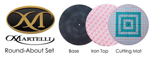 """Martelli, RA-03, 16"""", Round, About, Turn, Table, Base, Cutting, Mat, Ironing, Cover, Pad, Quilting, Crafting, Scrap, booking, book"""