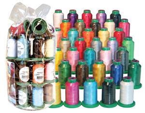 Isacord ISGIFTBX-35 Cones 1100Yd 40wt Poly Embroidery Thread Gift Box Bag, UV Resistant, $3.43 per Spool