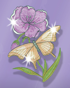 Great Notions CMC-BMM1 Butterfly Mylar Magic 20 Embroidery Designs CD