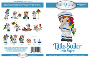 Purely Gates PG5417 Little Sailor Mylar Embroidery Designs CD