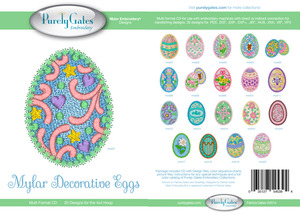 Purely Gates PG5394 Mylar Decorative Eggs Embroidery Designs CD