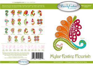 Purely Gates PG5400 Mylar Festive Flourish Embroidery Designs CD