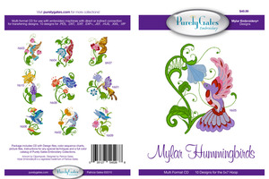 Purely Gates PG5288 Mylar Hummingbirds Embroidery Designs CD
