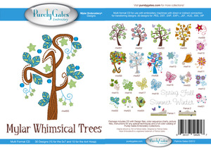 Purely Gates PG5257 Mylar Whimsical Trees Embroidery Designs CD