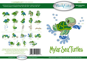 Purely Gates PG5158 Mylar Sea Turtles Embroidery Designs CD