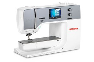 Bernina B740 241 Stitch Sewing Machine, 9mm Zigzag Width, Built In Dual Feed, Needle Threader, BSR Stitch Regulator Ready, 70% More Bobbin Capacity
