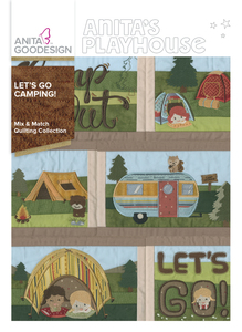 Anita Goodesign 278AGHD Lets Go Camping Mix & Match Quilting Collection CD