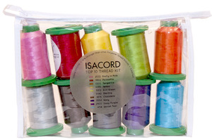 60574: Isacord ISTOP10 Top 10 Colors 1100Yd Cones Embroidery Thread 40wt Poly