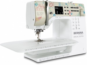 Bernina 330 40/97 Stitch Computer Sewing Machine, Memory Buttonhole, Font, Needle Stop Up/Down, Threader, Extension Table, Sew Contempo Houston TX